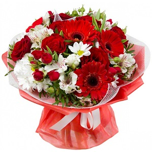 Buchet de flori White and Red
